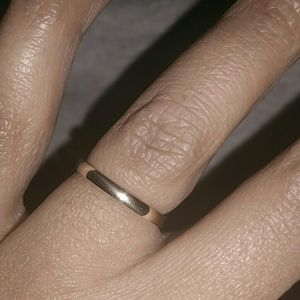 14K yellow gold 2mm solid gold band